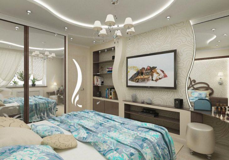 оформление дизайна спальни