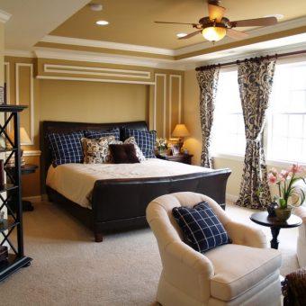 Идеи оформления спальни - 90 фото вариантов современной спальни