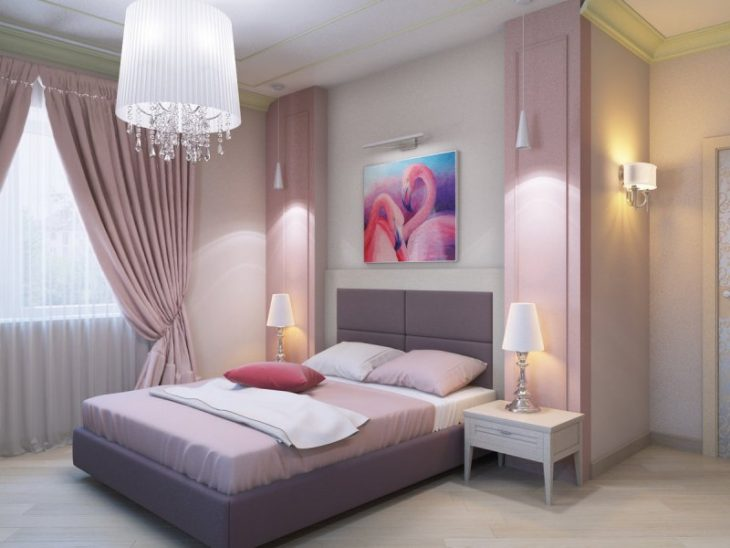 оформление спальни в квартире