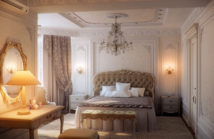 оформление современной спальни