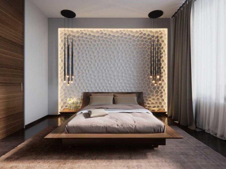 оформление кровати в спальне