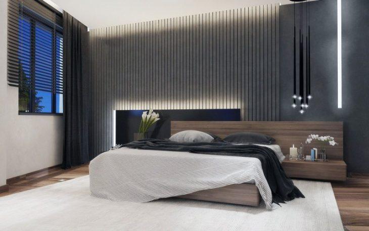 стена над кроватью фото