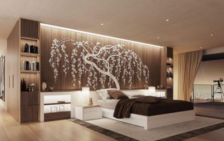 стена над кроватью