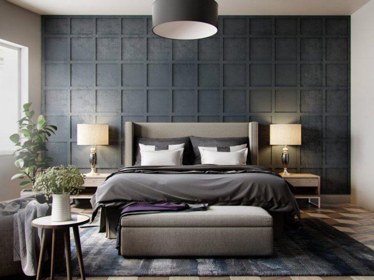 красивая стена над кроватью