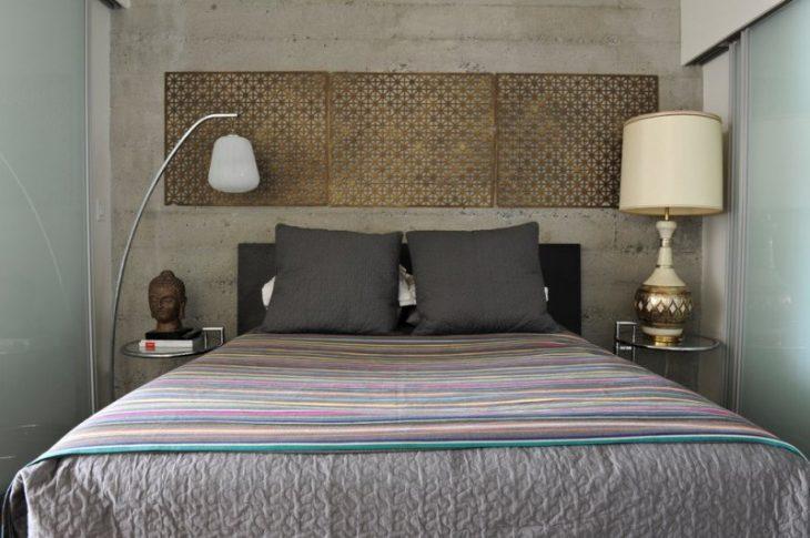 дизайн стены над кроватью
