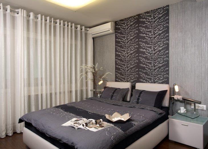 декор стены над кроватью
