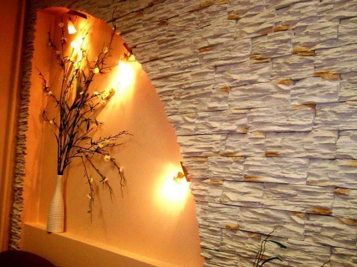 отделка дома декоративным камнем