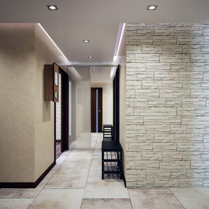 отделка декоративным камнем в квартире
