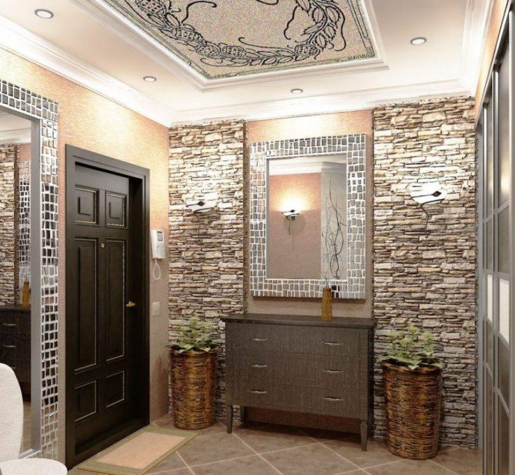 отделка балкона декоративным камнем