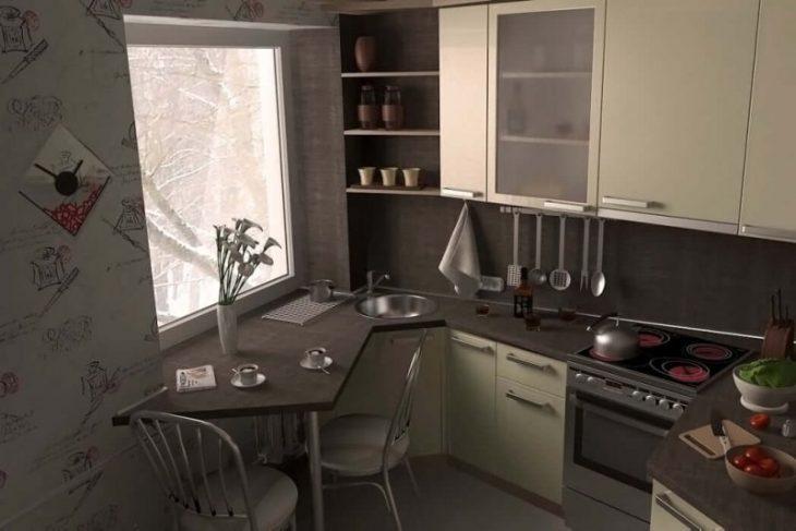 дизайн кухни ремонт стены