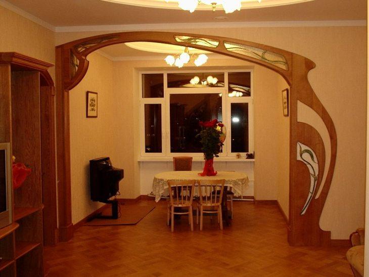 декоративная арка в квартире