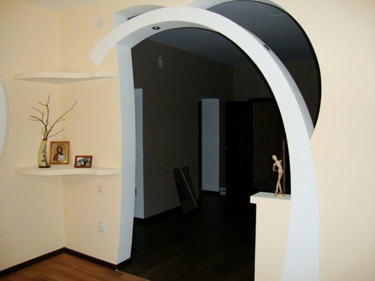 декоративная отделка арки в квартире