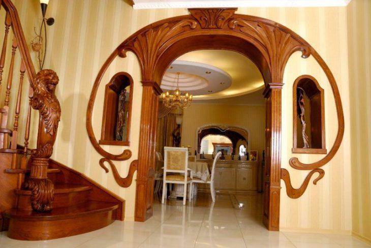 дизайн арки в квартире