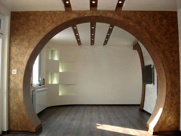 оформление арки в квартире
