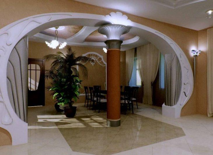 арки в квартирах из гипсокартона фото