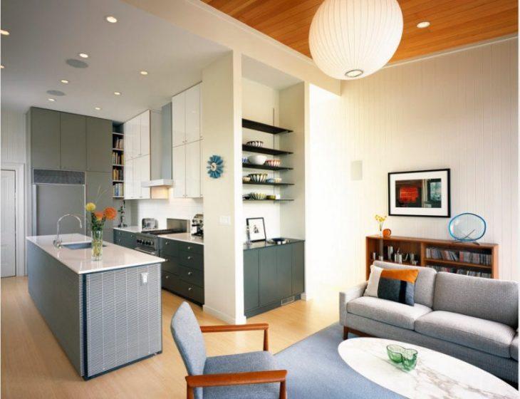 маленькая кухня гостиная дизайн