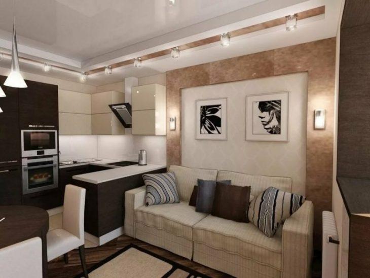 кухня гостиная дизайн реальные