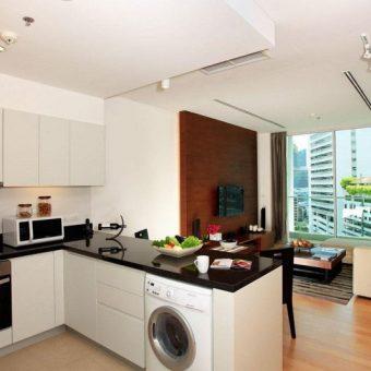 кухня гостиная с перегородкой дизайн