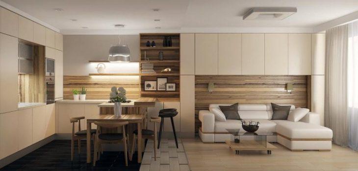 кухня и гостиная вместе дизайн