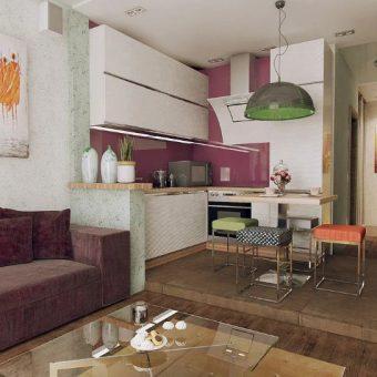 Современная кухня гостиная дизайн с 95 фото реальных примеров в маленькой квартире