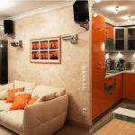 дизайн кухни гостиной в современном стиле фото