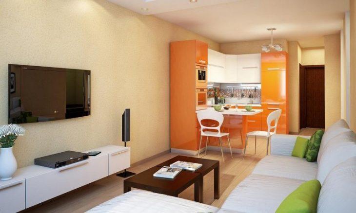 дизайн кухни гостиной в квартире фото