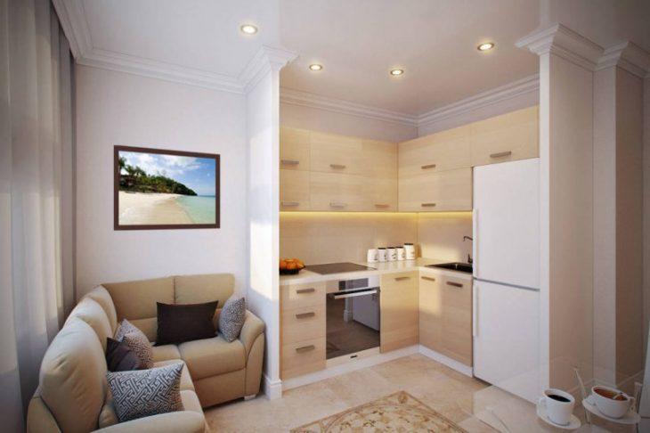 современная кухня гостиная дизайн фото