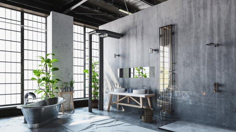 ванна в стиле лофт