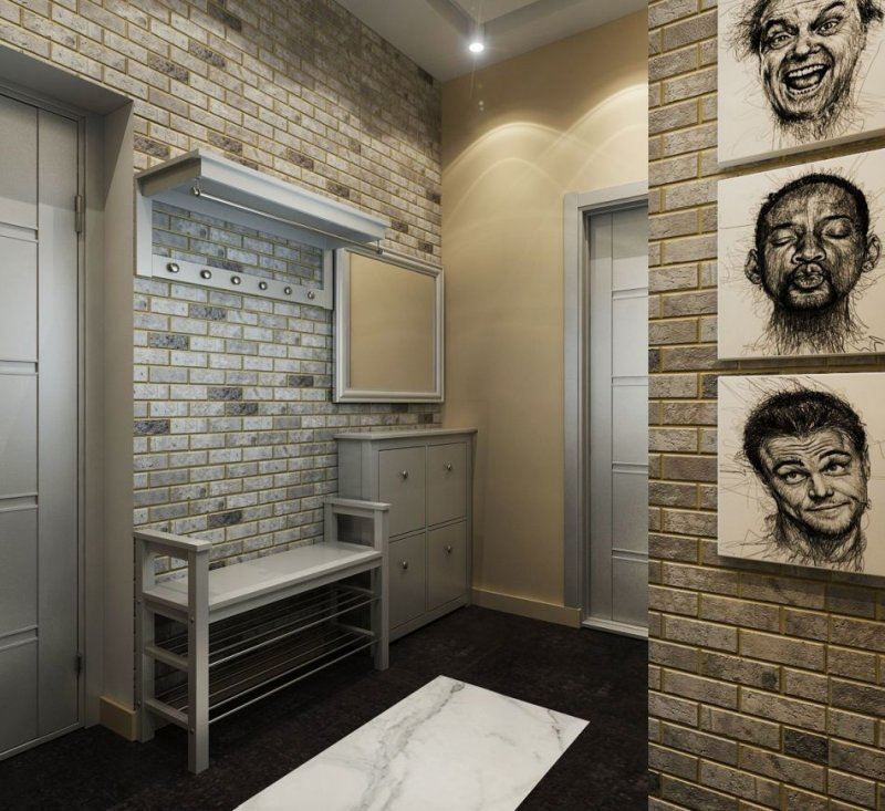 квартира коридор в стиле лофт