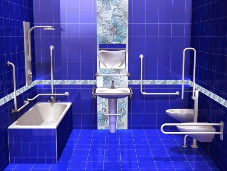 поручни для инвалидов в ванную и туалет