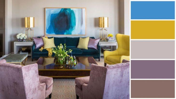 сочетание цвета в интерьере квартиры фото