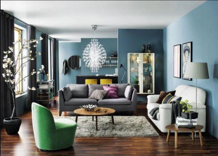 как сочетать цвета в интерьере квартиры