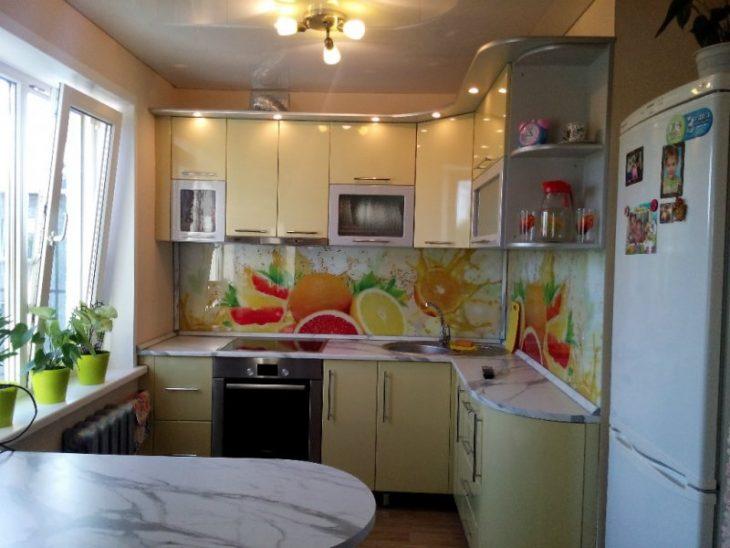 варианты дизайна кухни хрущевки