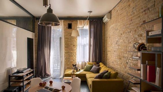 Интерьер гостиной 18 метров в современном стиле