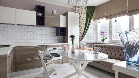 Шторы на кухню в современном стиле - фото