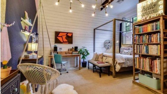 Комната девочки подростка - дизайн интерьера в современном стиле