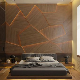 Недорогие методы декоративной отделки стен. Установка шпонированных панелей на стены
